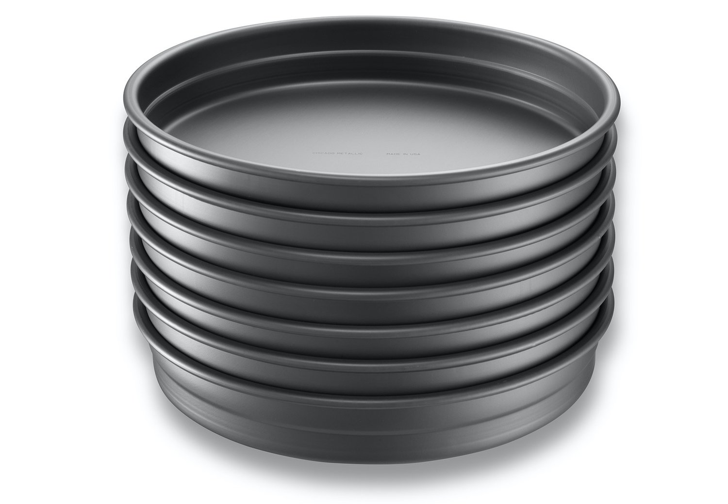 Round Deep Dish Pizza Pan Stack – Anodized Aluminum with AMERICOAT® Coating