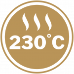 Maximum heat rating of 230°C