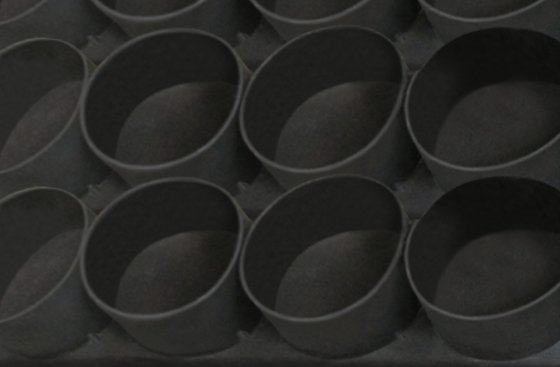 An English Muffin pan coated with OptiShield