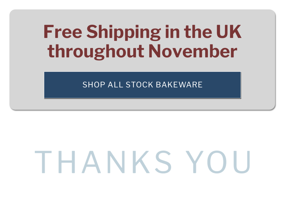 free shipping in the UK throughout November