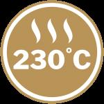Maximum Heat Rating of 230 °C