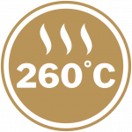 Maximum Heat Rating of 260°C for Items with Coating
