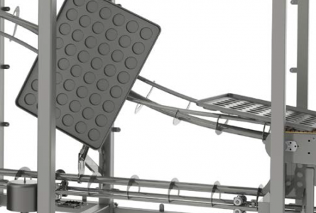 Continuous, inverting conveyor