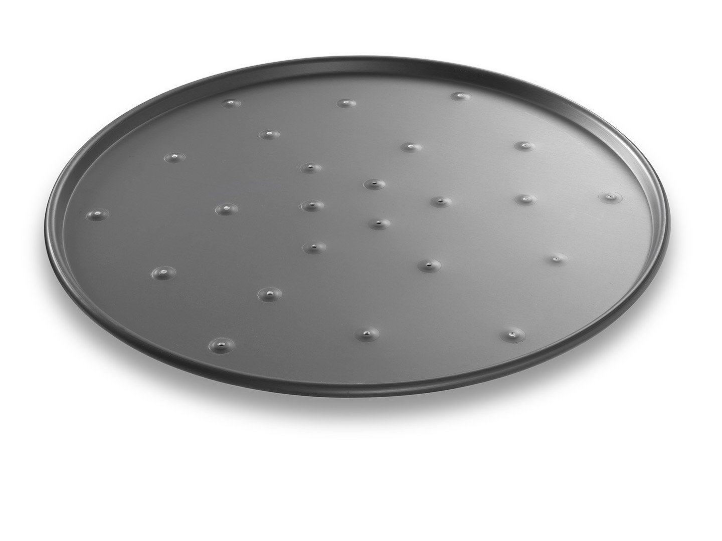 Round Perforated Pizza Pan – Anodized Aluminum