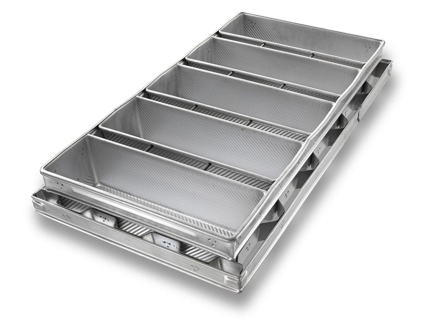5-in-Line Pullman Bread Pan with Extended Bandiron - AMERICOAT® Coating