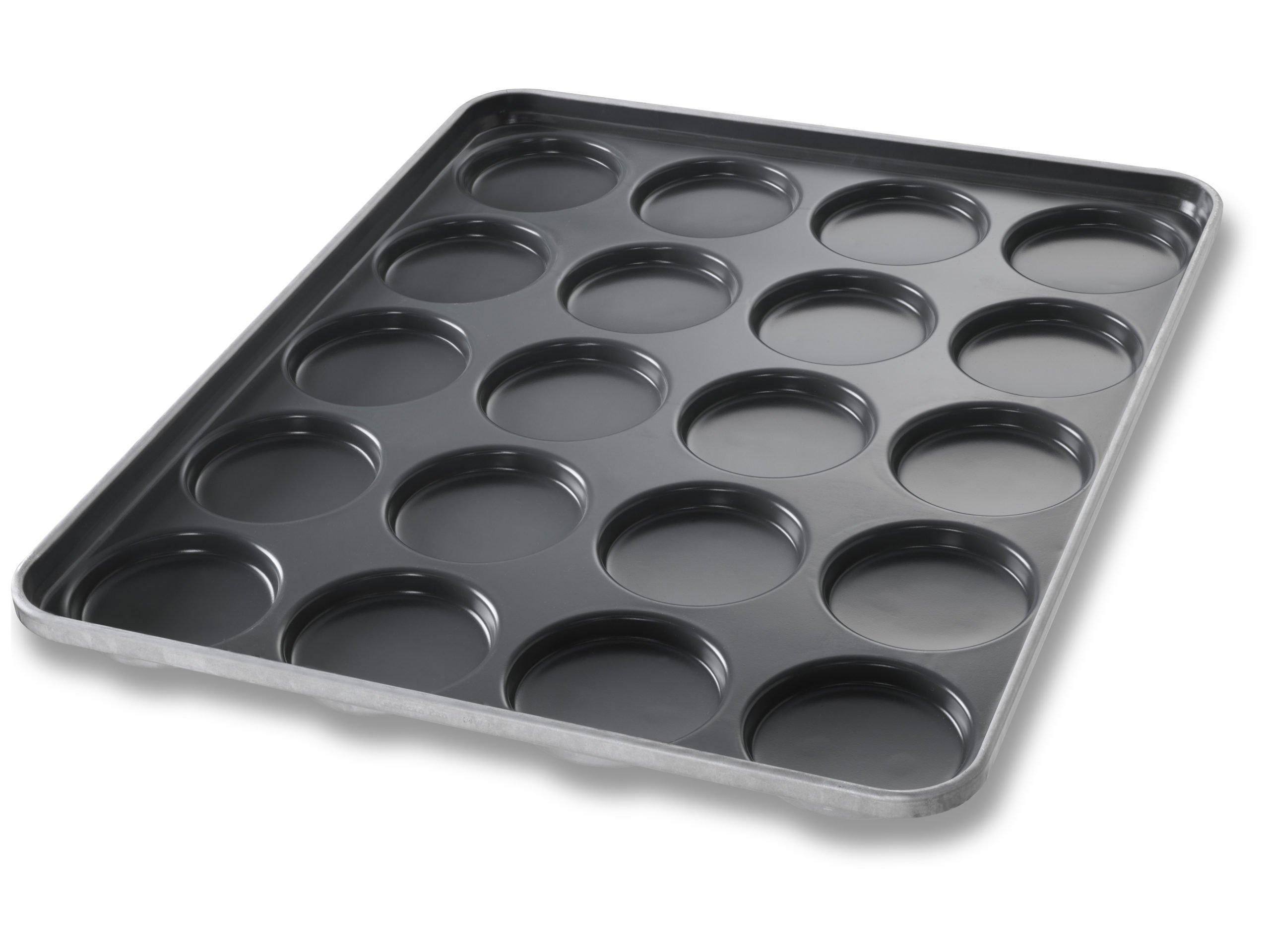 Hamburger Bun Pan with Flared End Structural Ribs - DuraShield® Coating
