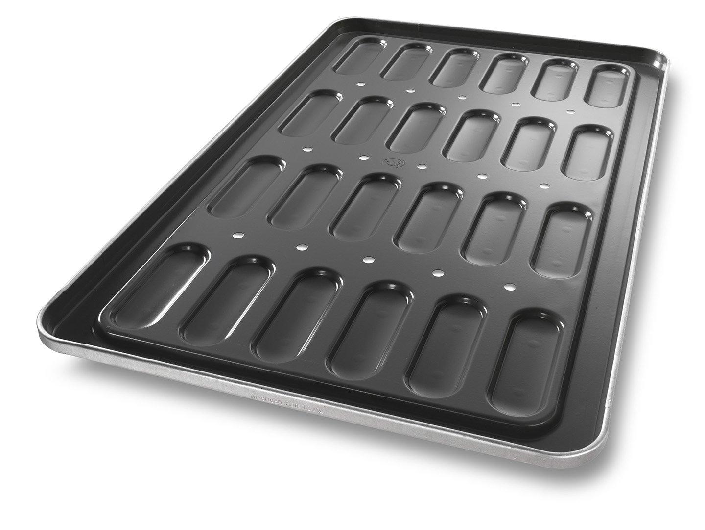 Hot Dog Bun Pan with Moated Construction and Drain Holes – DuraShield® Coating
