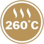 Maximum heat rating of 260°C